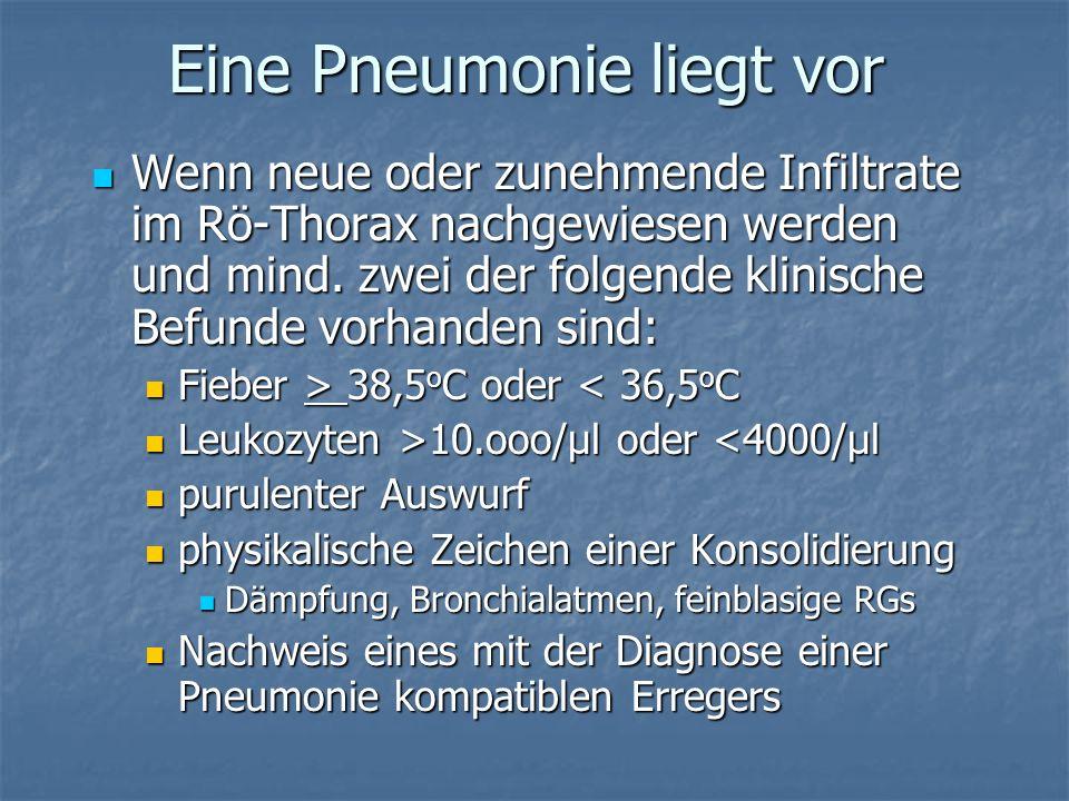 Eine Pneumonie liegt vor