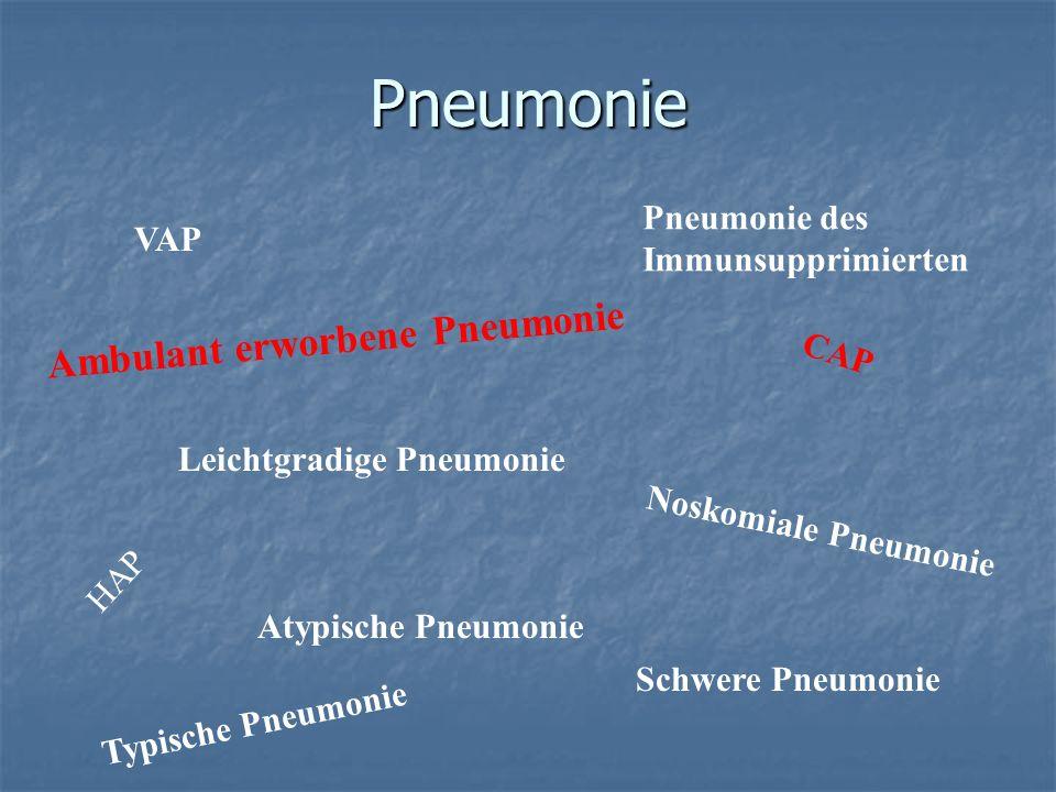 Pneumonie Ambulant erworbene Pneumonie Pneumonie des VAP