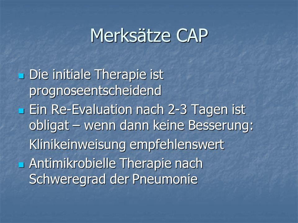 Merksätze CAP Die initiale Therapie ist prognoseentscheidend