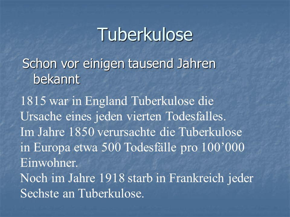 Tuberkulose Schon vor einigen tausend Jahren bekannt
