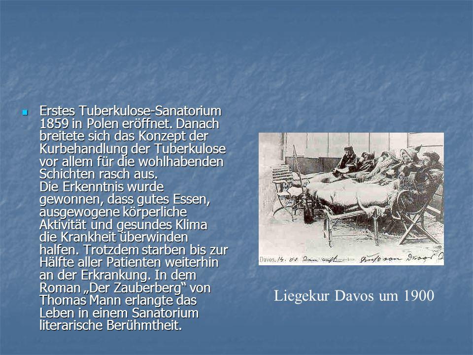 Erstes Tuberkulose-Sanatorium 1859 in Polen eröffnet