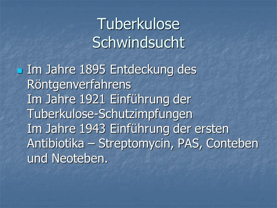 Tuberkulose Schwindsucht