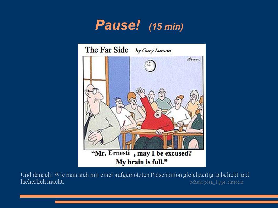 Pause! (15 min)