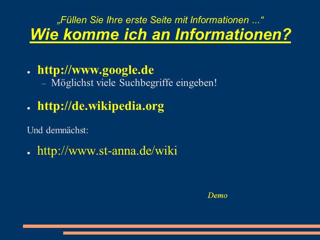http://www.google.de http://de.wikipedia.org