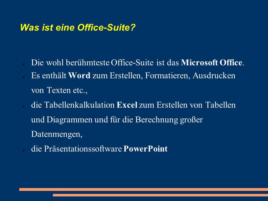 Was ist eine Office-Suite