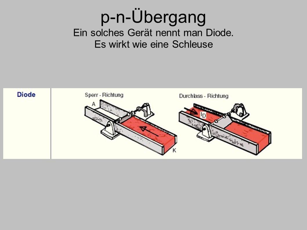 p-n-Übergang Ein solches Gerät nennt man Diode