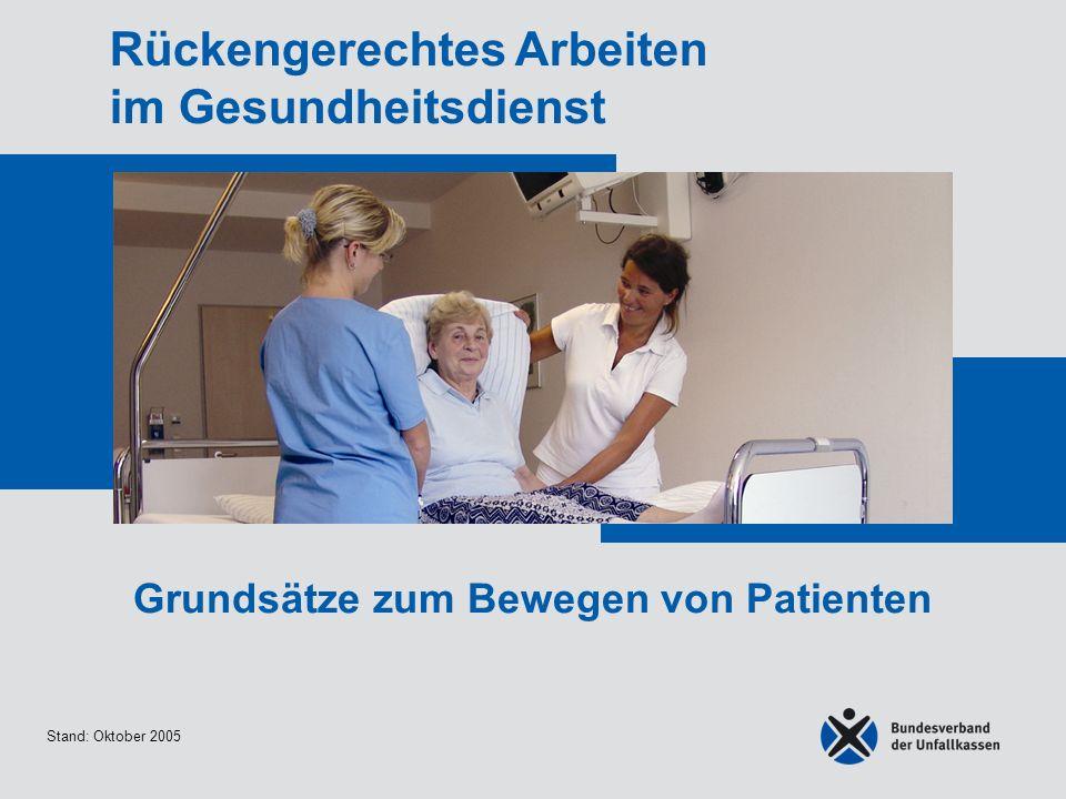 Grundsätze zum Bewegen von Patienten