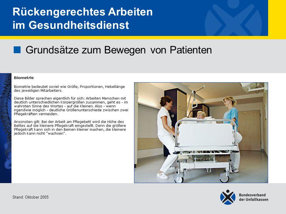 Grundsätze zum Bewegen von Patienten • Biometrie
