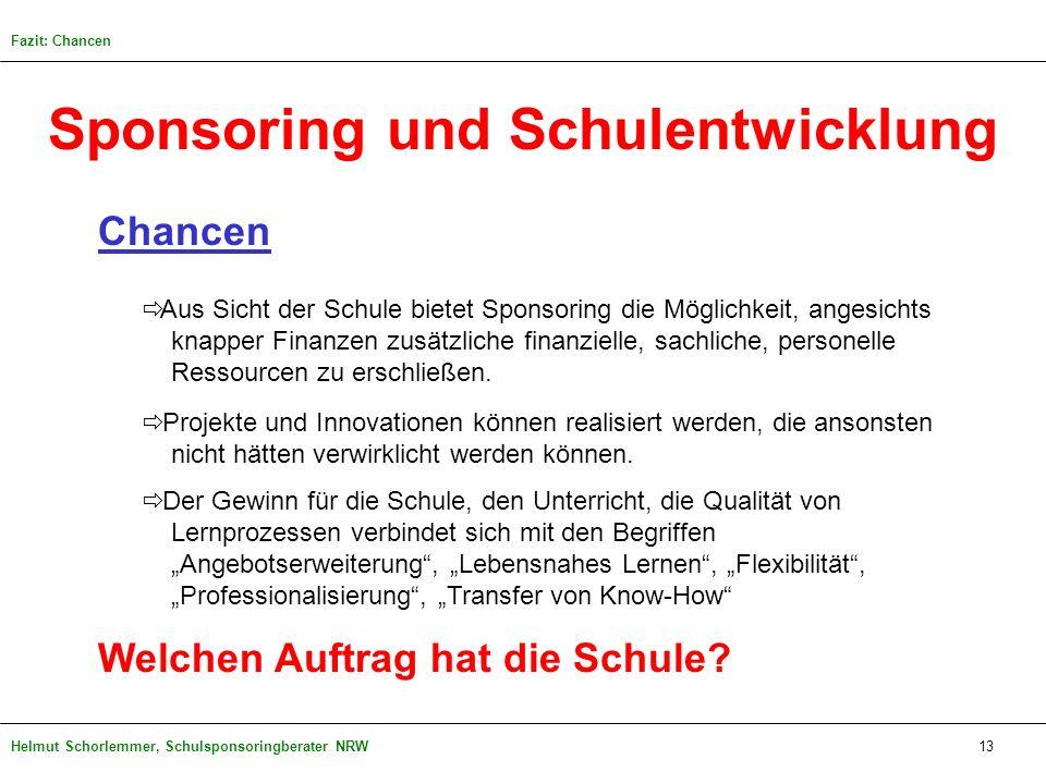Sponsoring und Schulentwicklung