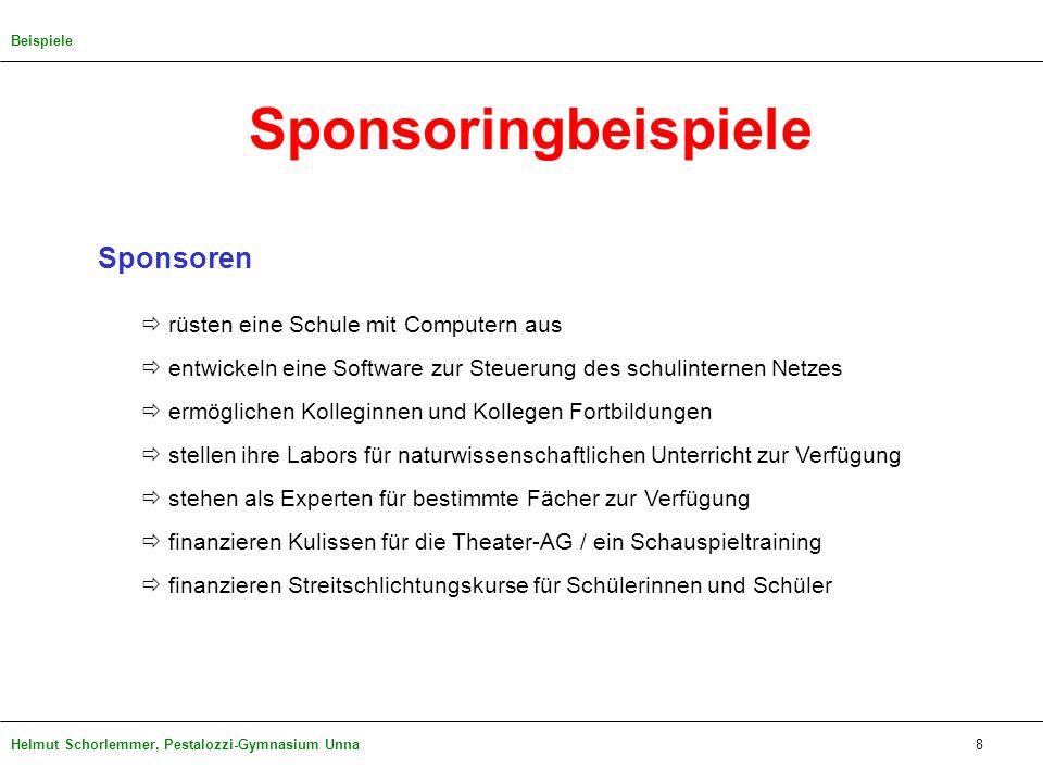 Sponsoringbeispiele Sponsoren  rüsten eine Schule mit Computern aus