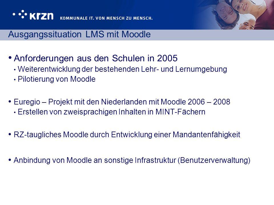 Ausgangssituation LMS mit Moodle