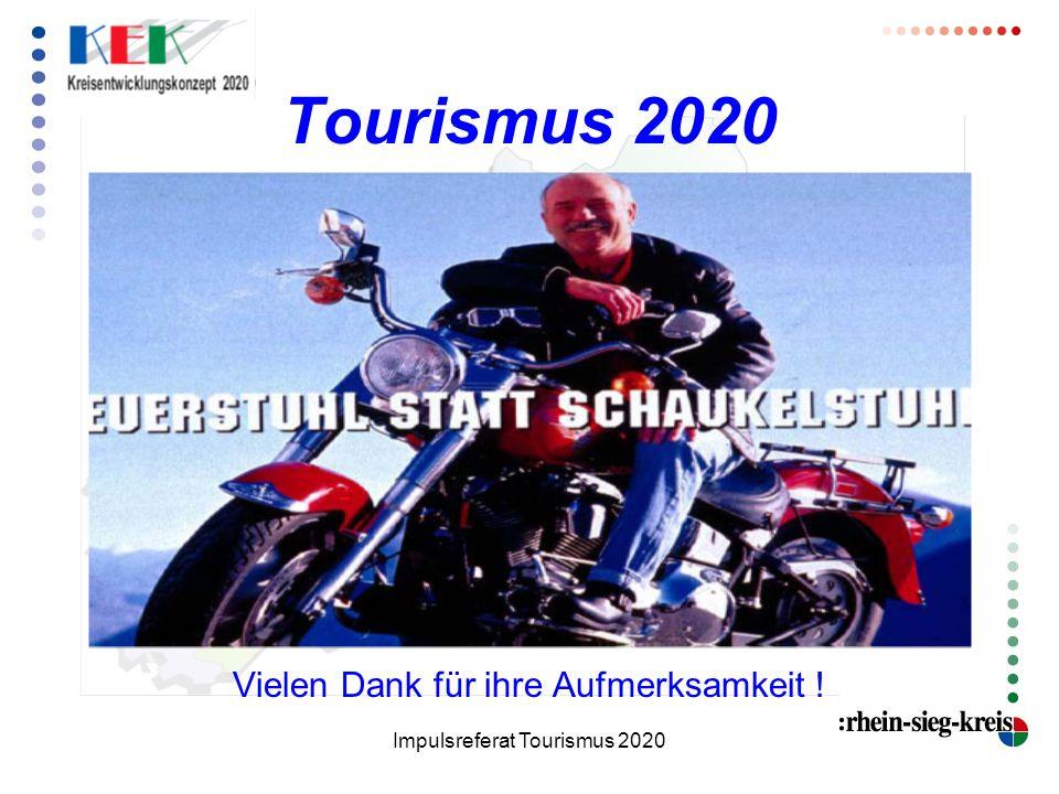 Tourismus 2020 Vielen Dank für ihre Aufmerksamkeit !
