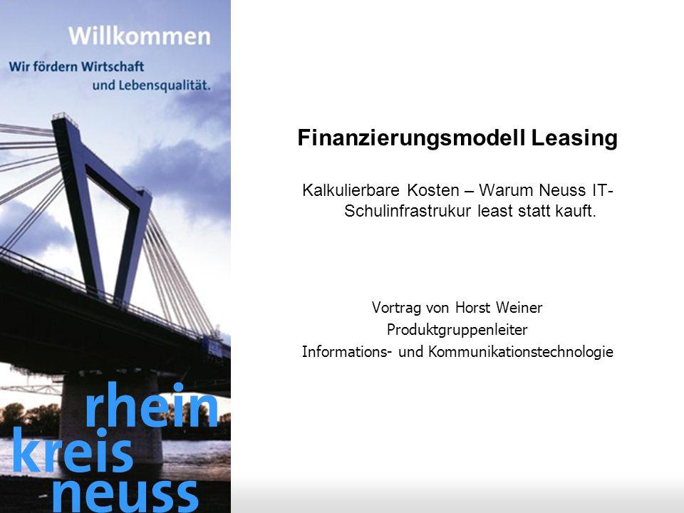 Finanzierungsmodell Leasing