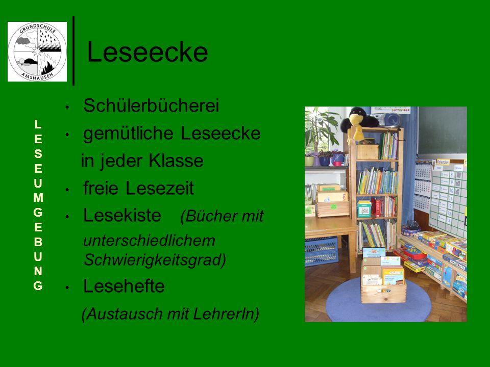 Leseecke Schülerbücherei gemütliche Leseecke in jeder Klasse