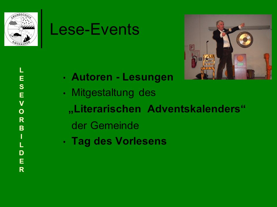 """Lese-Events """"Literarischen Adventskalenders der Gemeinde"""