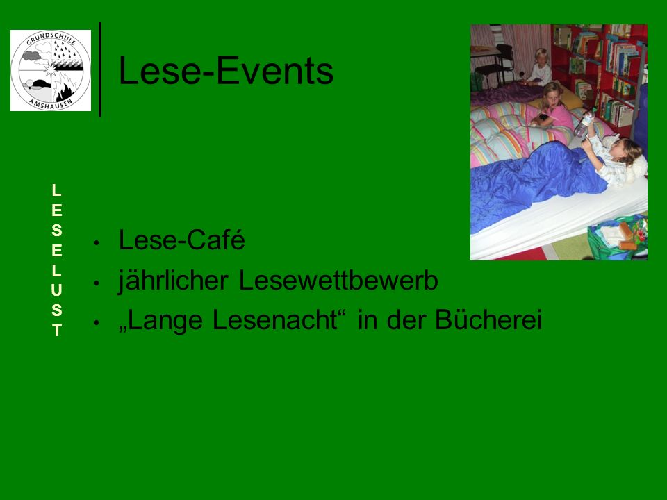 Lese-Events Lese-Café jährlicher Lesewettbewerb