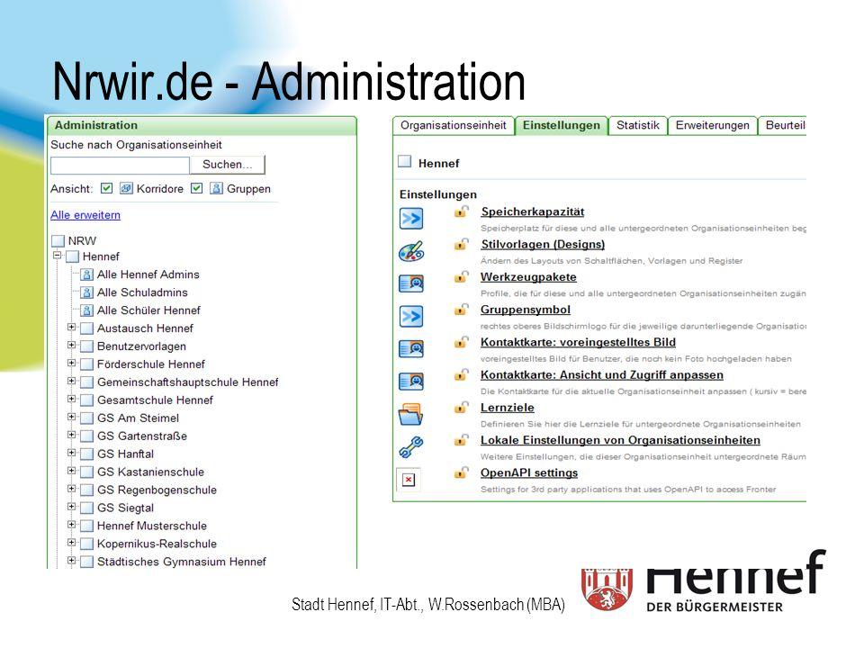 Nrwir.de - Administration