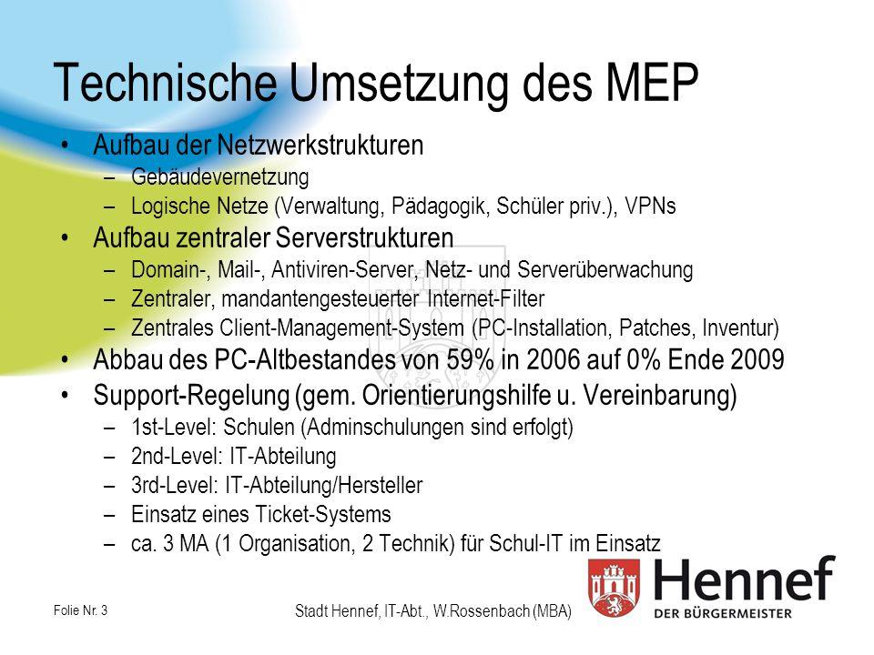 Technische Umsetzung des MEP