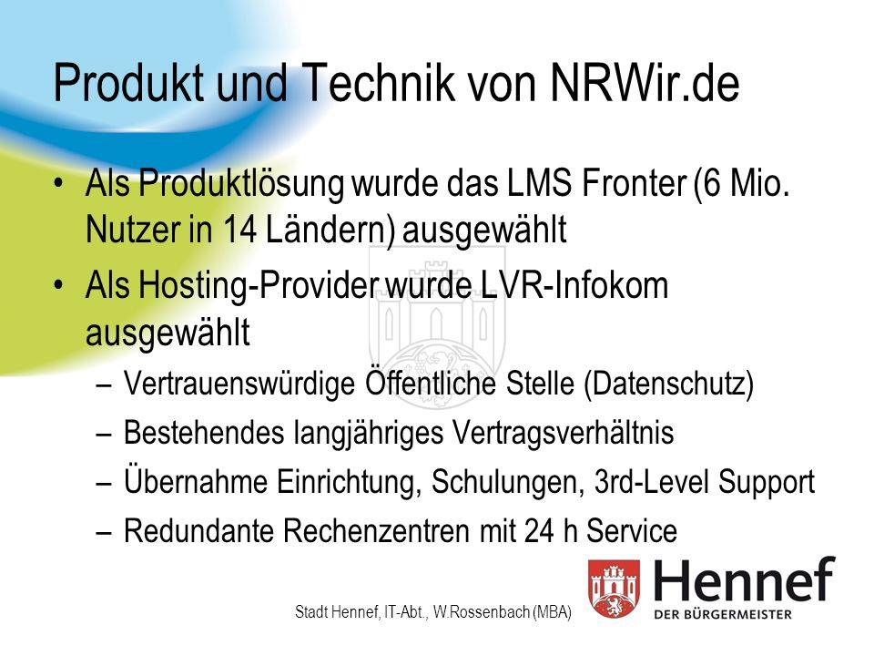 Produkt und Technik von NRWir.de