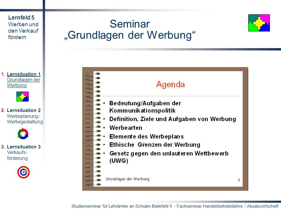 """Seminar """"Grundlagen der Werbung"""