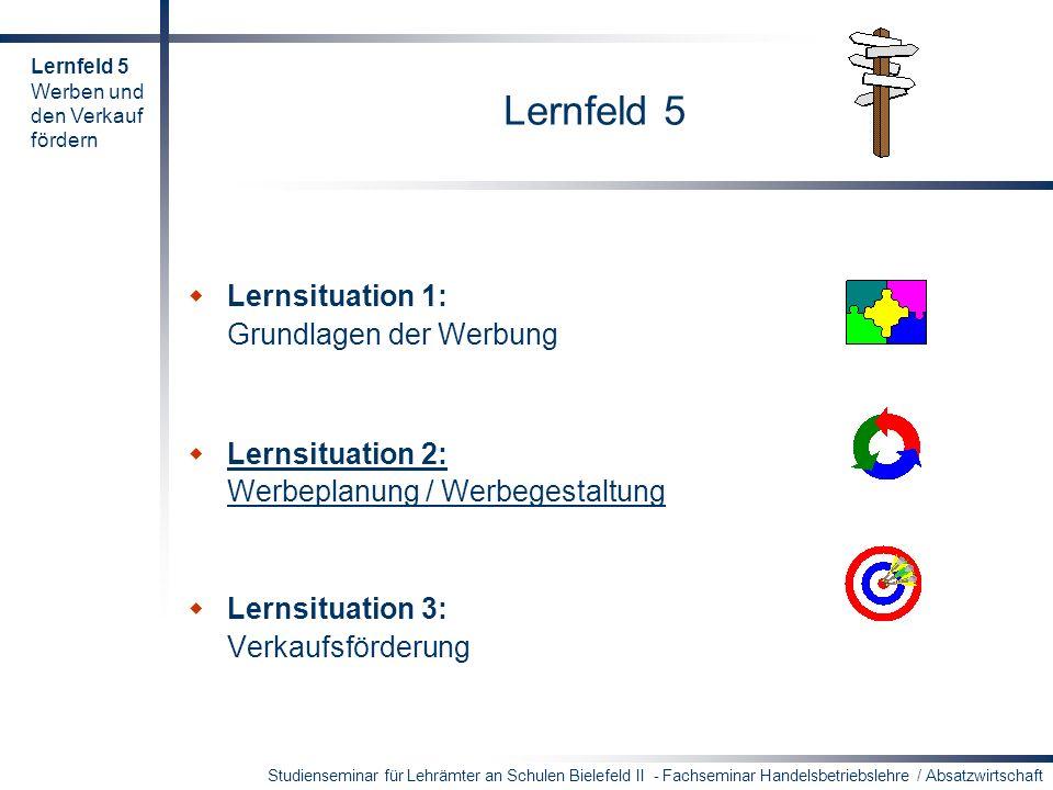 Lernfeld 5 Lernsituation 1: Grundlagen der Werbung