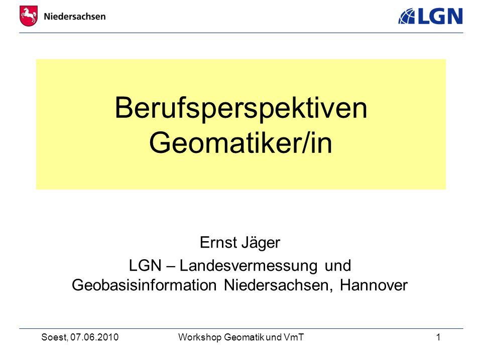 Berufsperspektiven Geomatiker/in