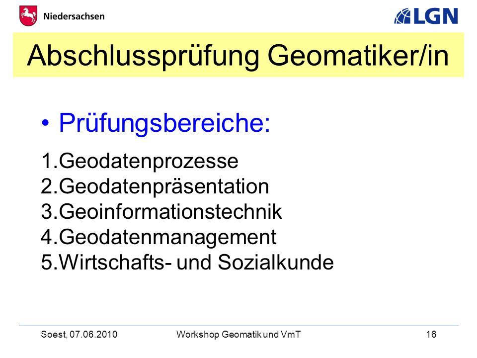 Abschlussprüfung Geomatiker/in