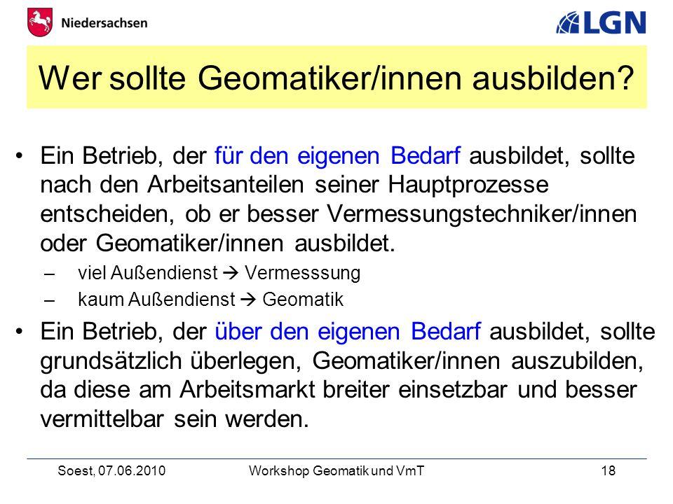 Wer sollte Geomatiker/innen ausbilden
