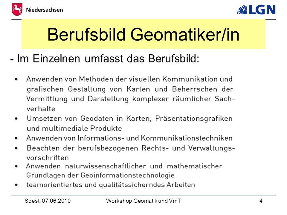 Berufsbild Geomatiker/in