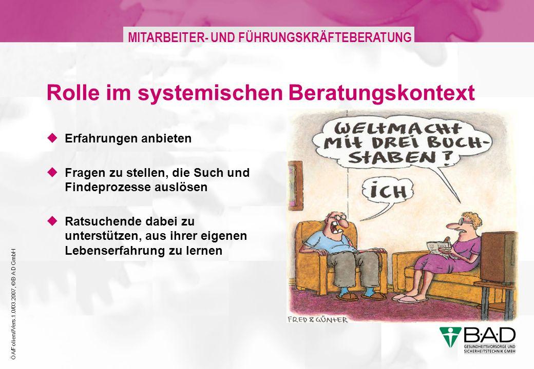 Rolle im systemischen Beratungskontext