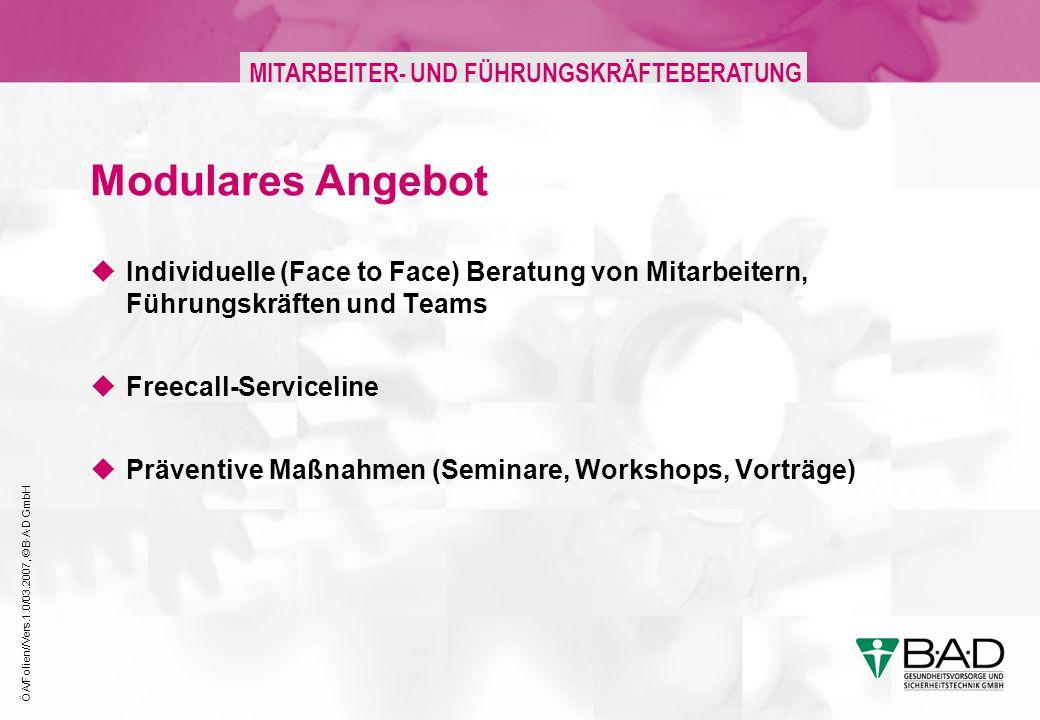 Modulares Angebot Individuelle (Face to Face) Beratung von Mitarbeitern, Führungskräften und Teams.