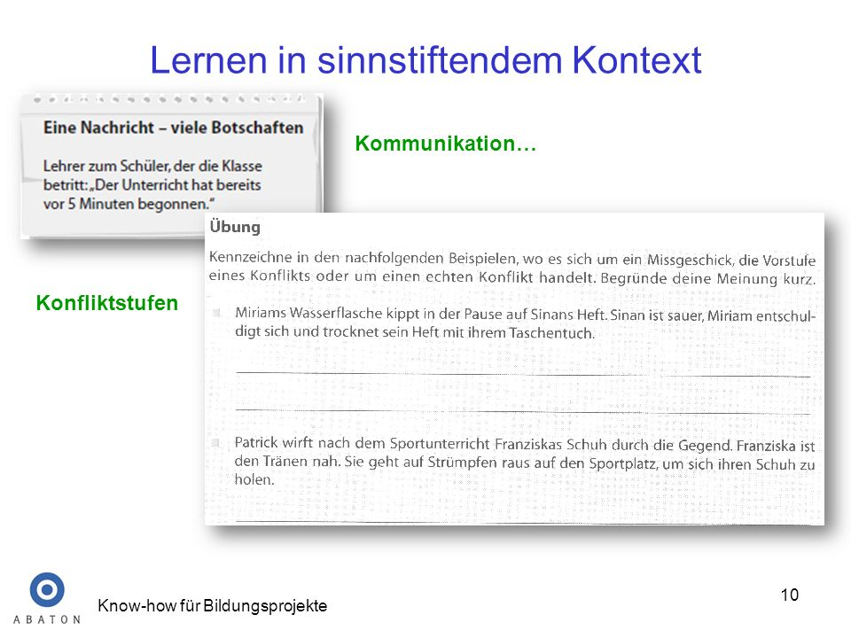 Lernen in sinnstiftendem Kontext