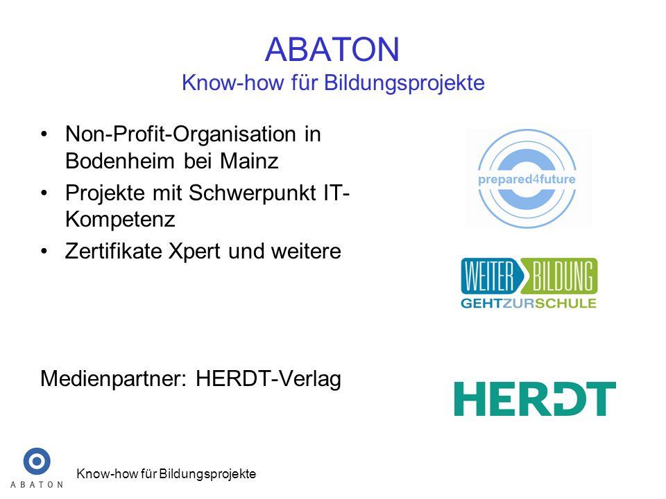 ABATON Know-how für Bildungsprojekte