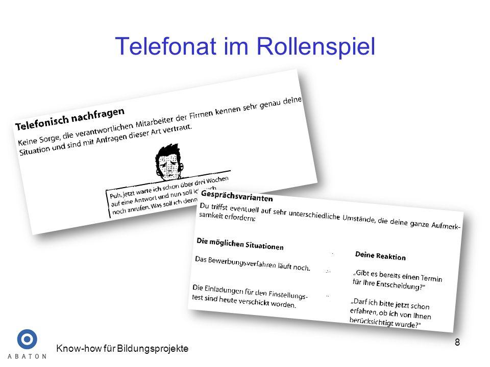 Telefonat im Rollenspiel