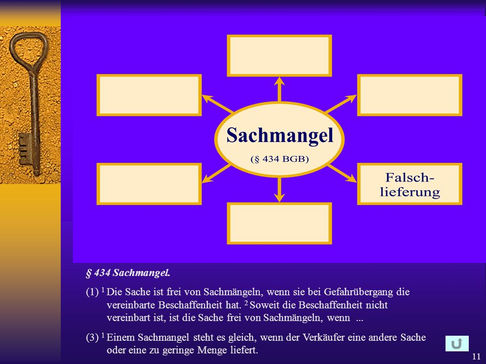 § 434 Sachmangel.