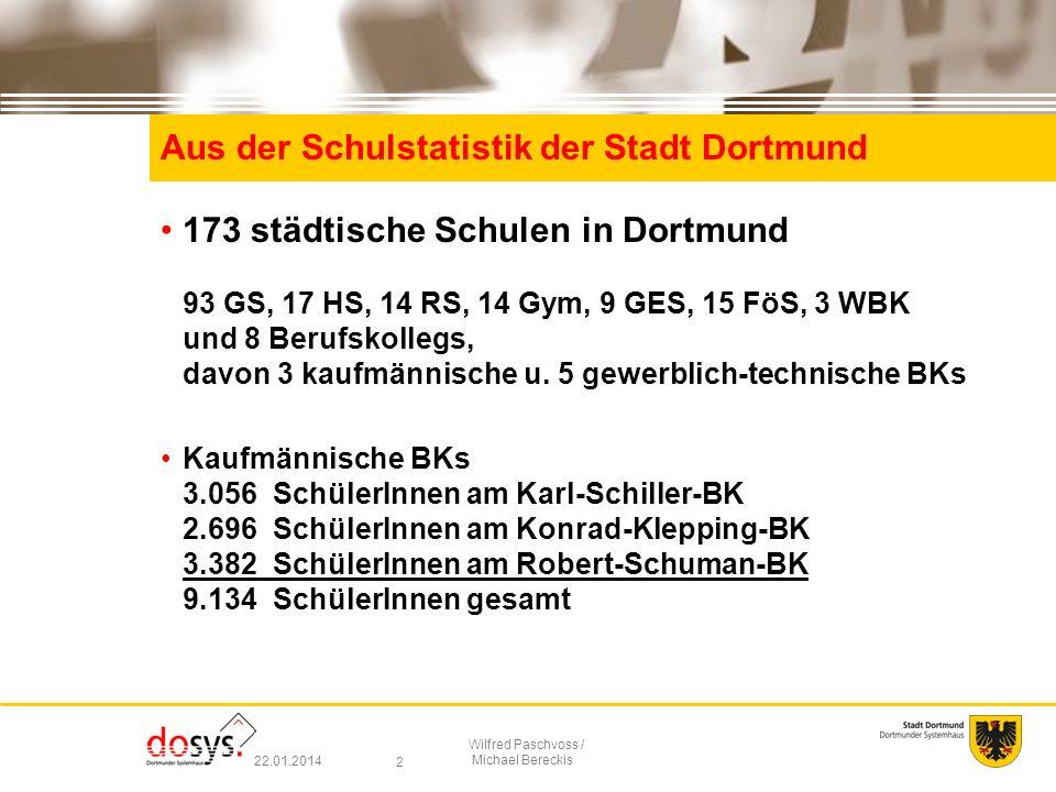 Aus der Schulstatistik der Stadt Dortmund