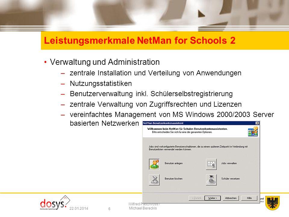 Leistungsmerkmale NetMan for Schools 2