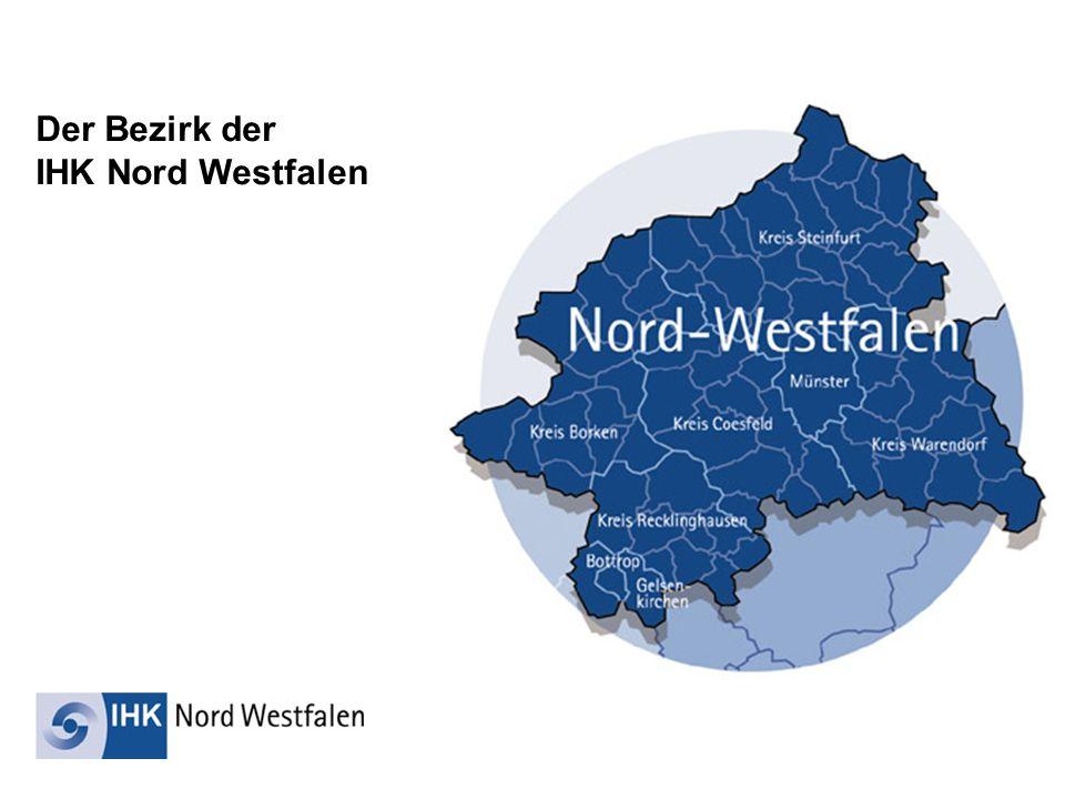 Der Bezirk der IHK Nord Westfalen