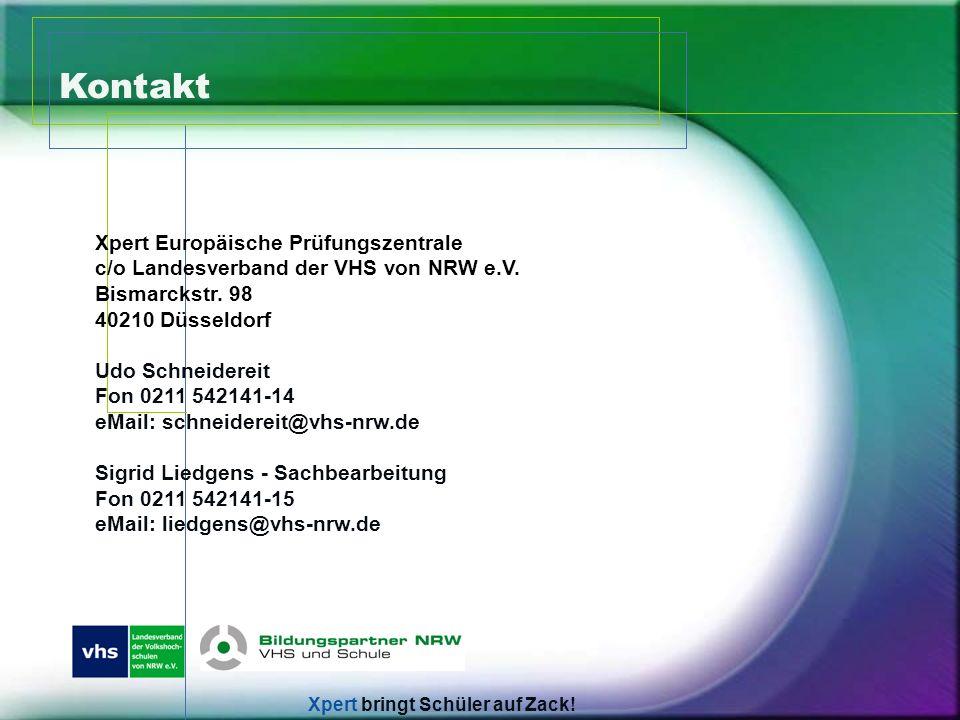 Kontakt Xpert Europäische Prüfungszentrale