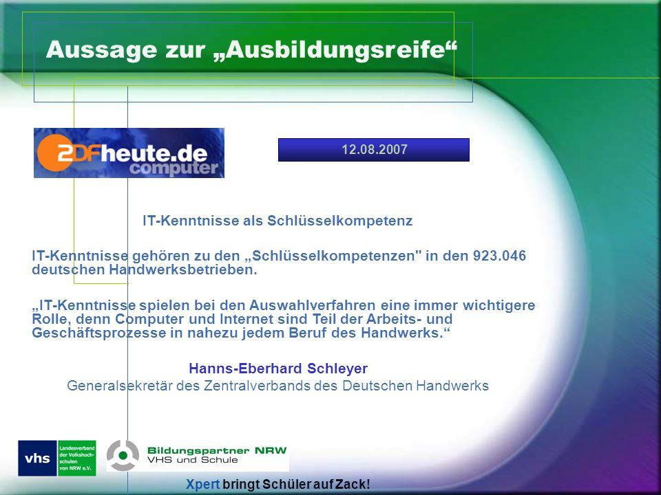 IT-Kenntnisse als Schlüsselkompetenz Hanns-Eberhard Schleyer