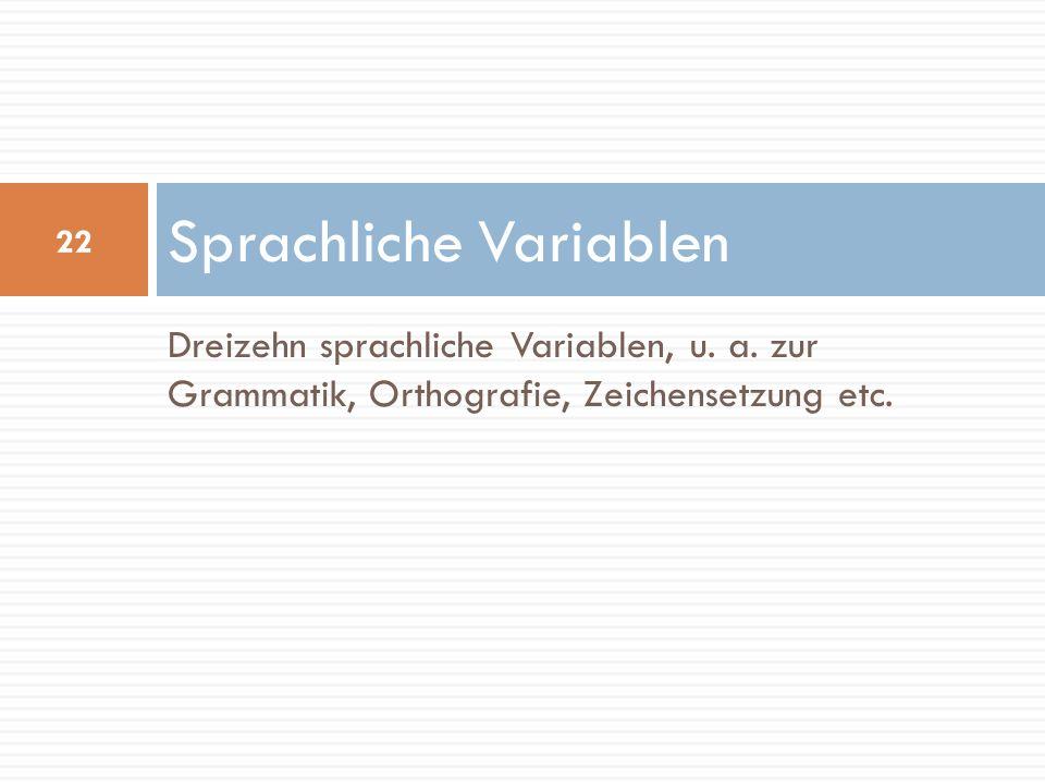 Sprachliche Variablen