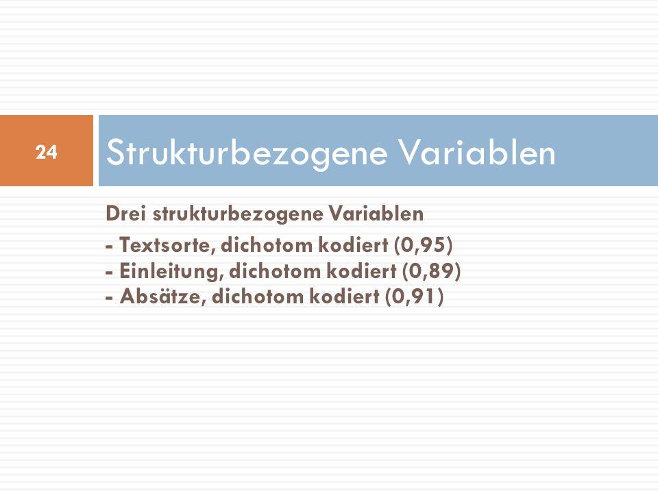 Strukturbezogene Variablen
