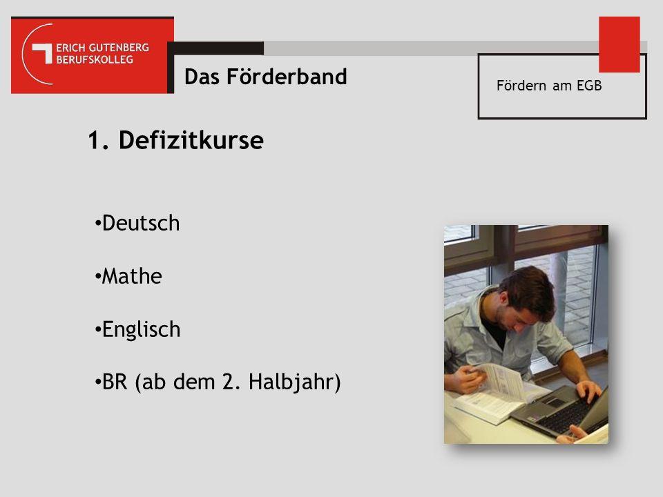 1. Defizitkurse Das Förderband Deutsch Mathe Englisch