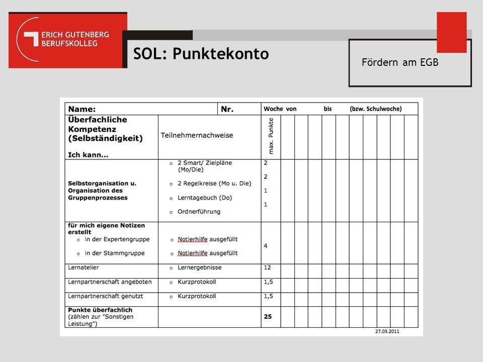 SOL: Punktekonto Fördern am EGB