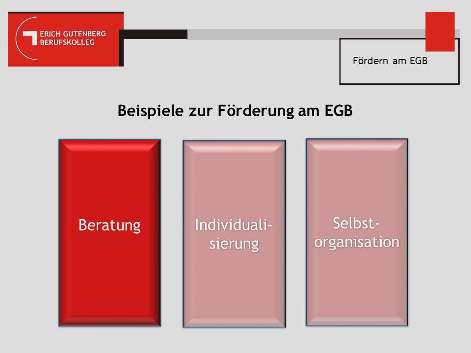 Beispiele zur Förderung am EGB