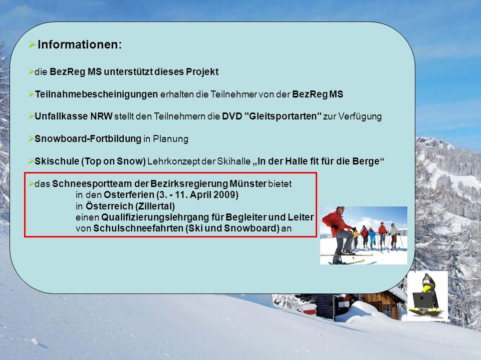 Informationen: die BezReg MS unterstützt dieses Projekt