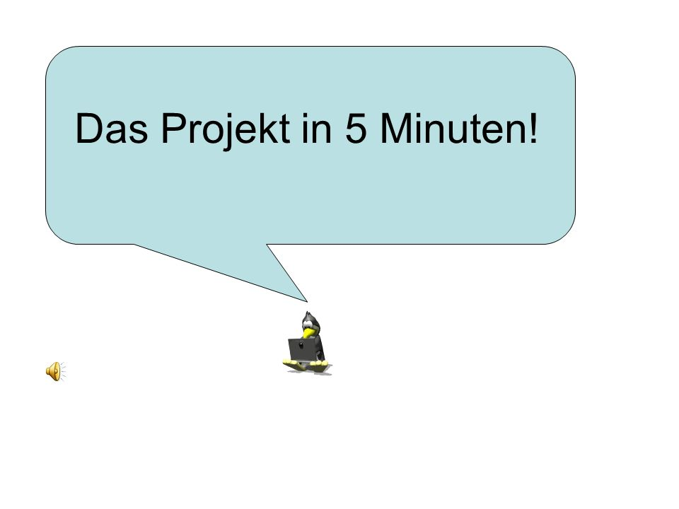 Das Projekt in 5 Minuten!