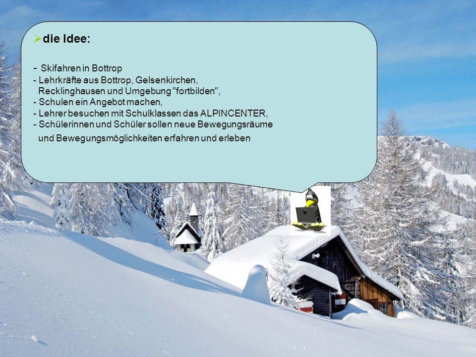 die Idee: - Skifahren in Bottrop