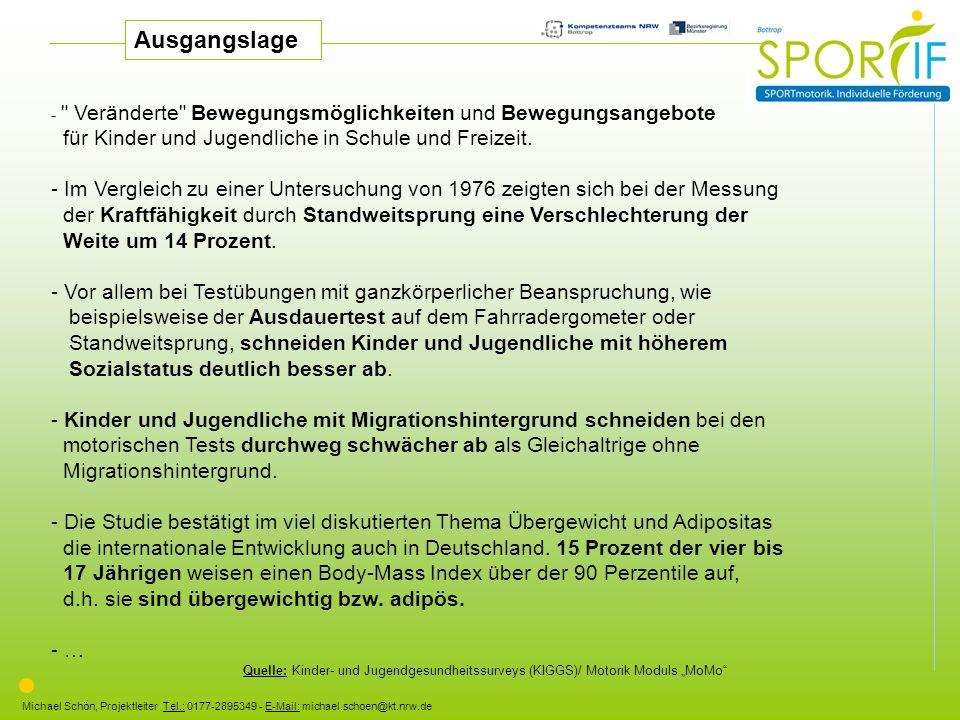 Ausgangslage für Kinder und Jugendliche in Schule und Freizeit.