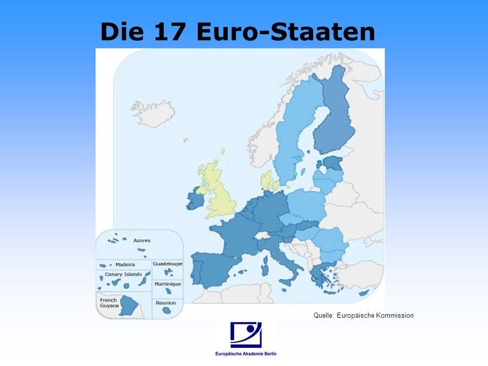 Die 17 Euro-Staaten Quelle: Europäische Kommission